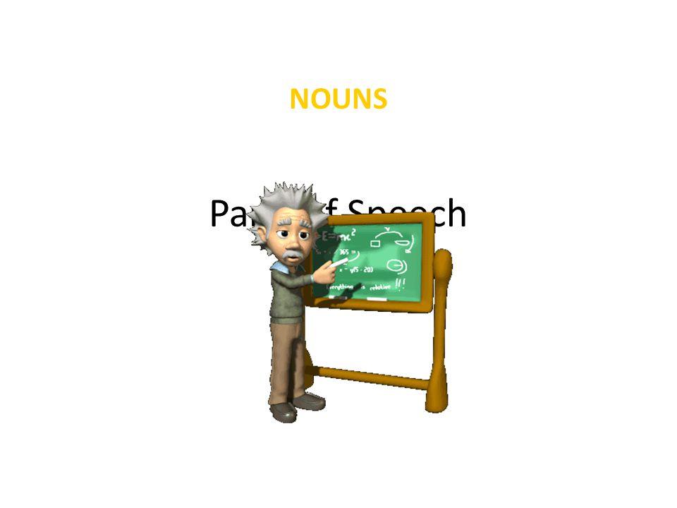 NOUNS Parts of Speech