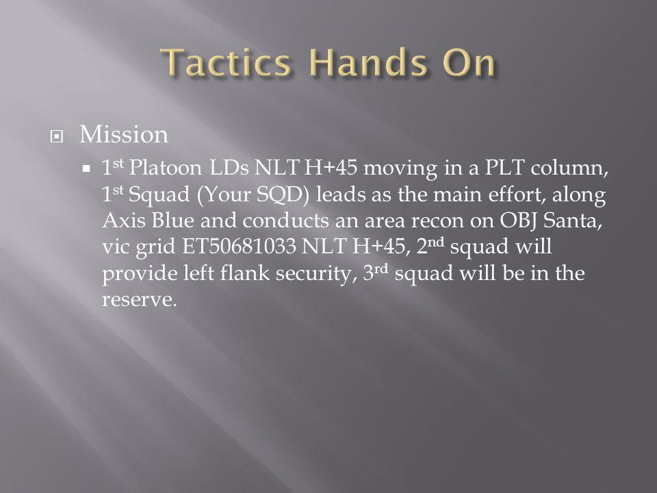 Tactics Hands On Mission