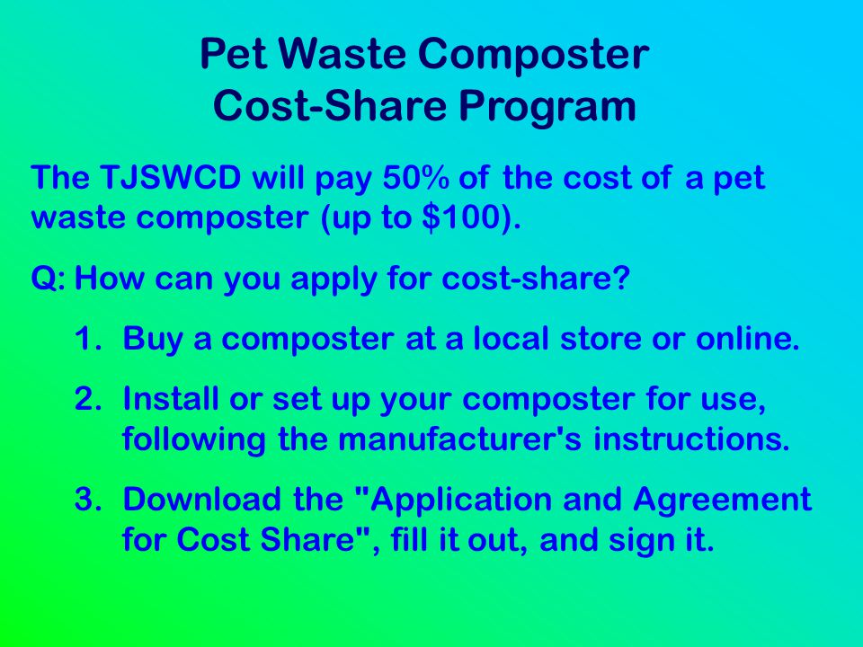 Pet Waste Composter Cost-Share Program