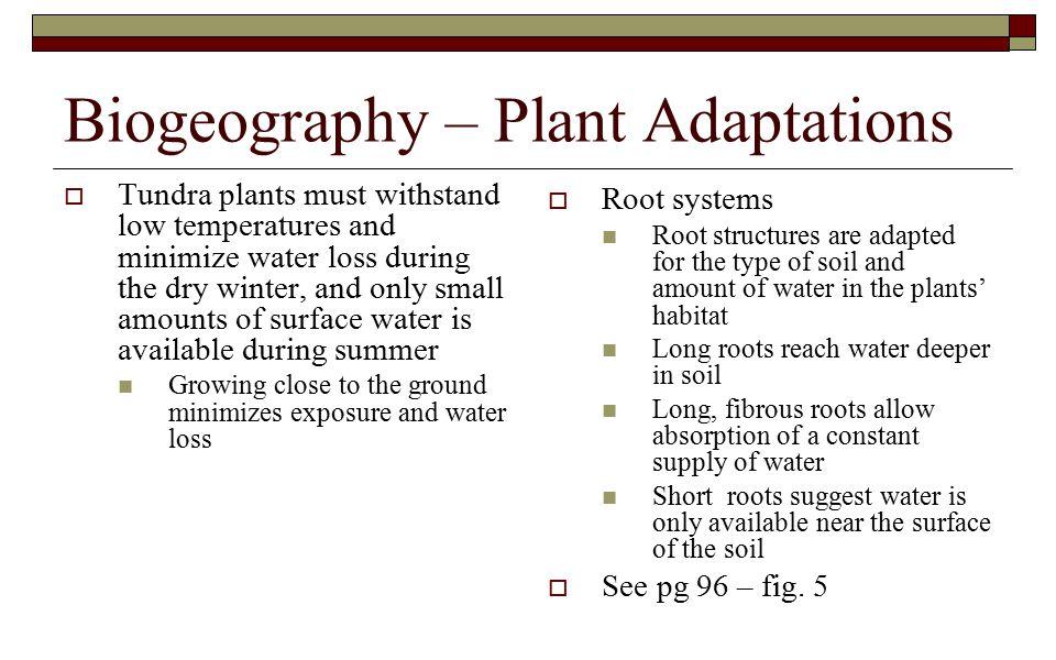 Biogeography – Plant Adaptations