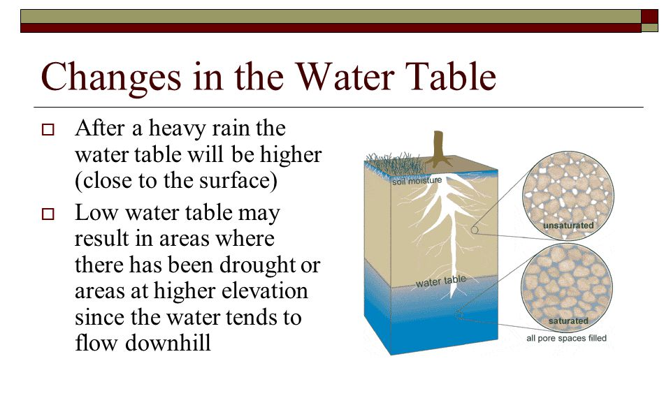 Changes in the Water Table