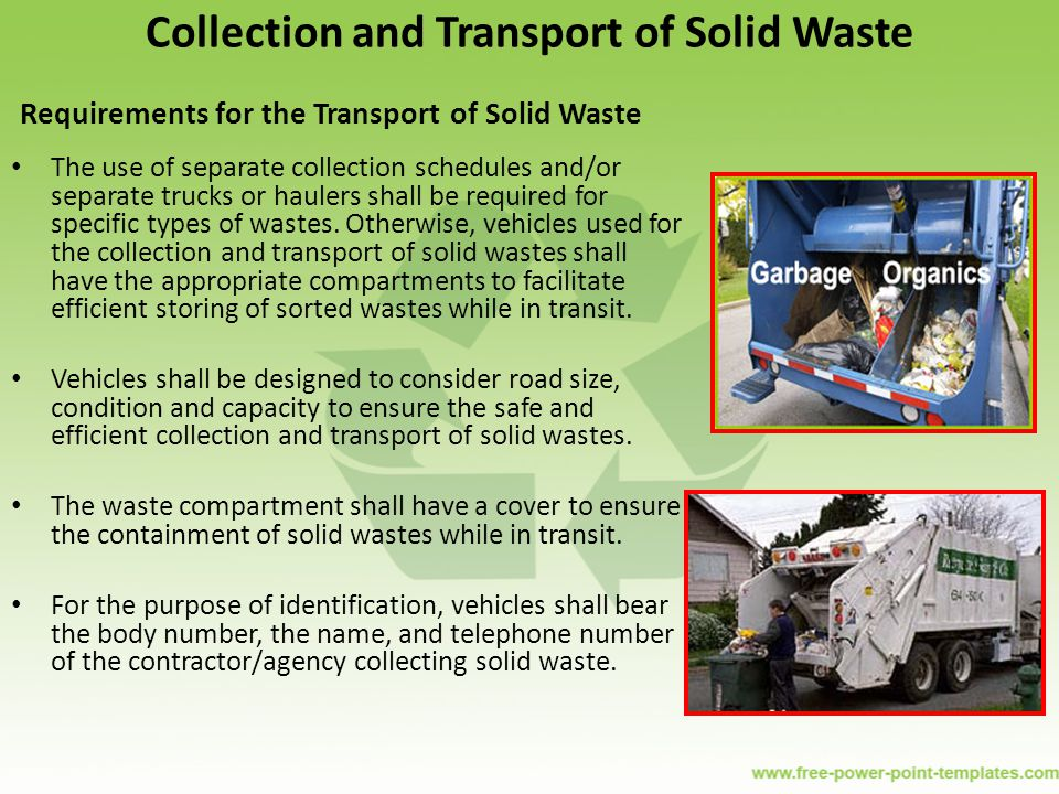 Collection and Transport of Solid Waste