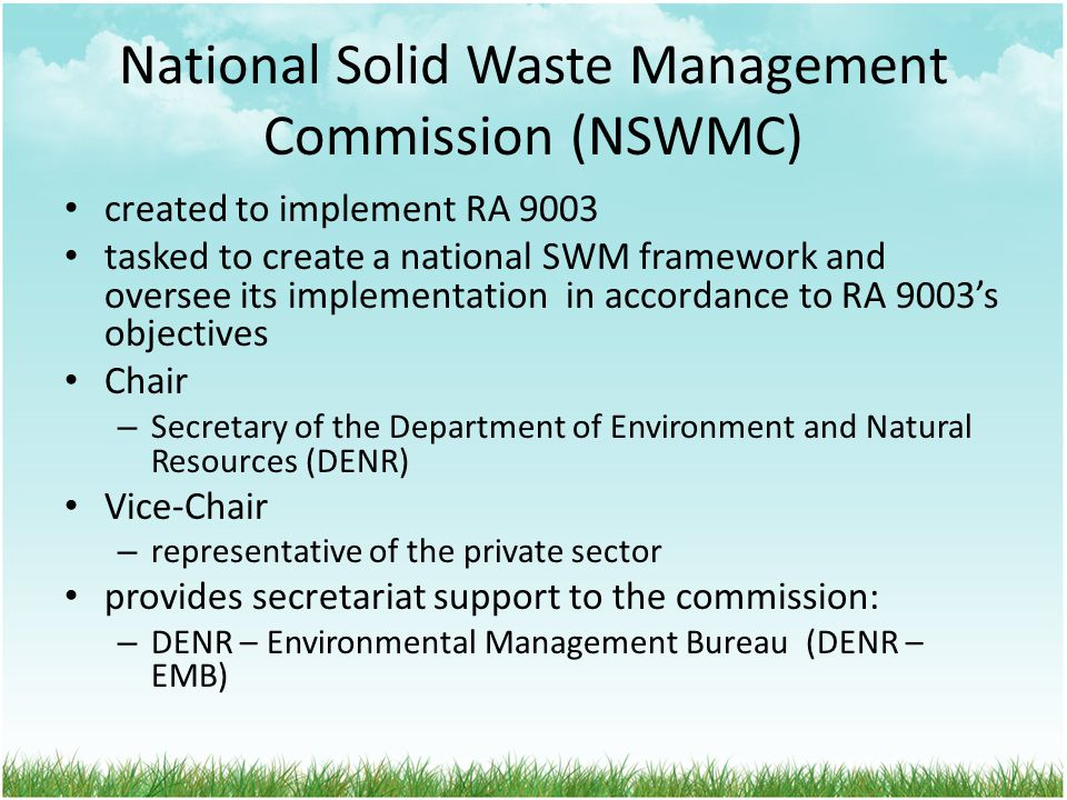 National Solid Waste Management Commission (NSWMC)