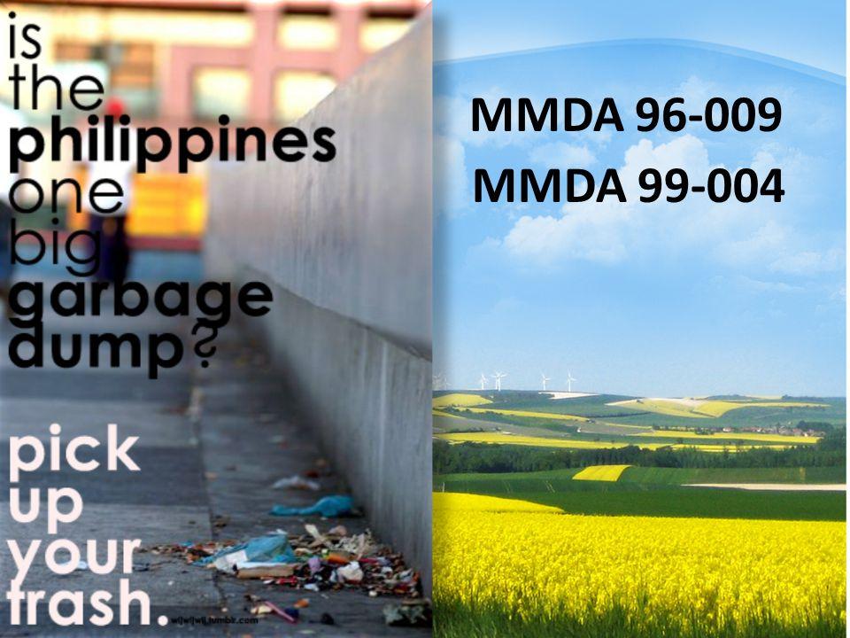 MMDA 96-009 MMDA 99-004