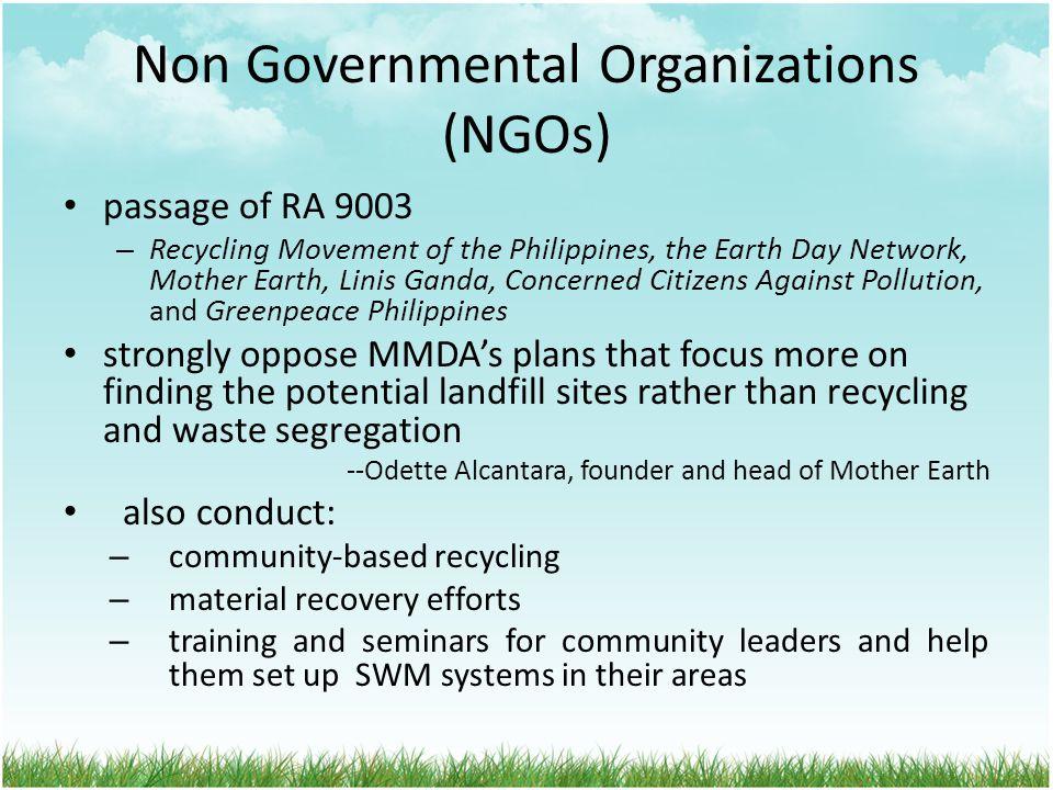 Non Governmental Organizations (NGOs)