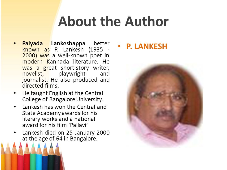 About the Author P. LANKESH