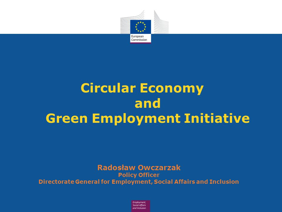Circular Economy and Green Employment Initiative