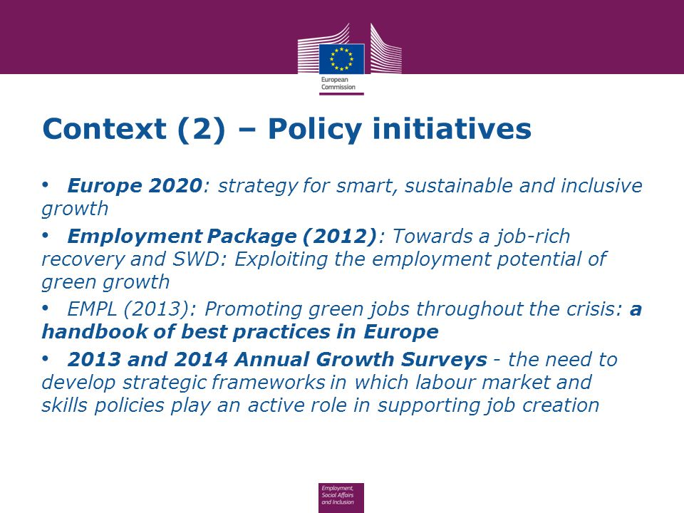 Context (2) – Policy initiatives