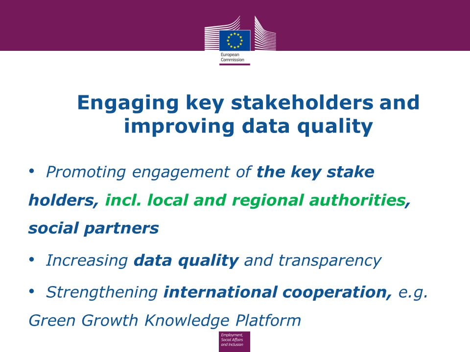 Engaging key stakeholders and improving data quality
