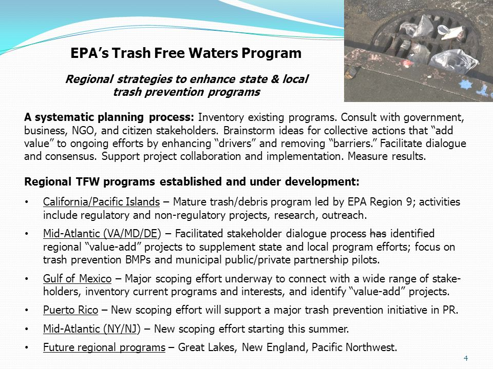 EPA's Trash Free Waters Program