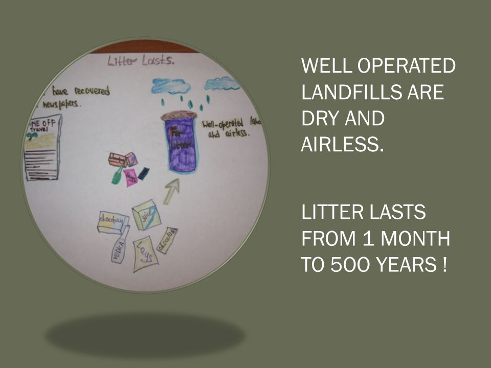 WELL OPERATED LANDFILLS ARE DRY AND AIRLESS.