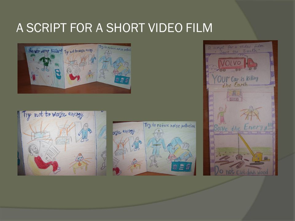 A SCRIPT FOR A SHORT VIDEO FILM