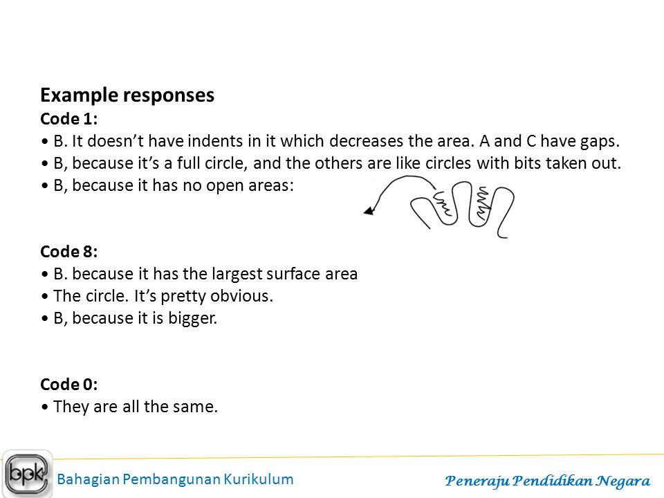 Example responses Code 1: