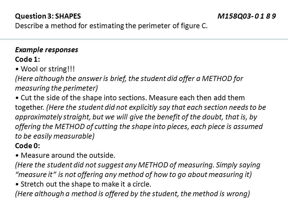 Question 3: SHAPES M158Q03- 0 1 8 9