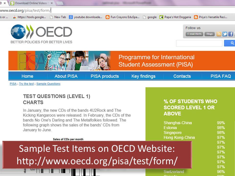 Sample Test Items on OECD Website: