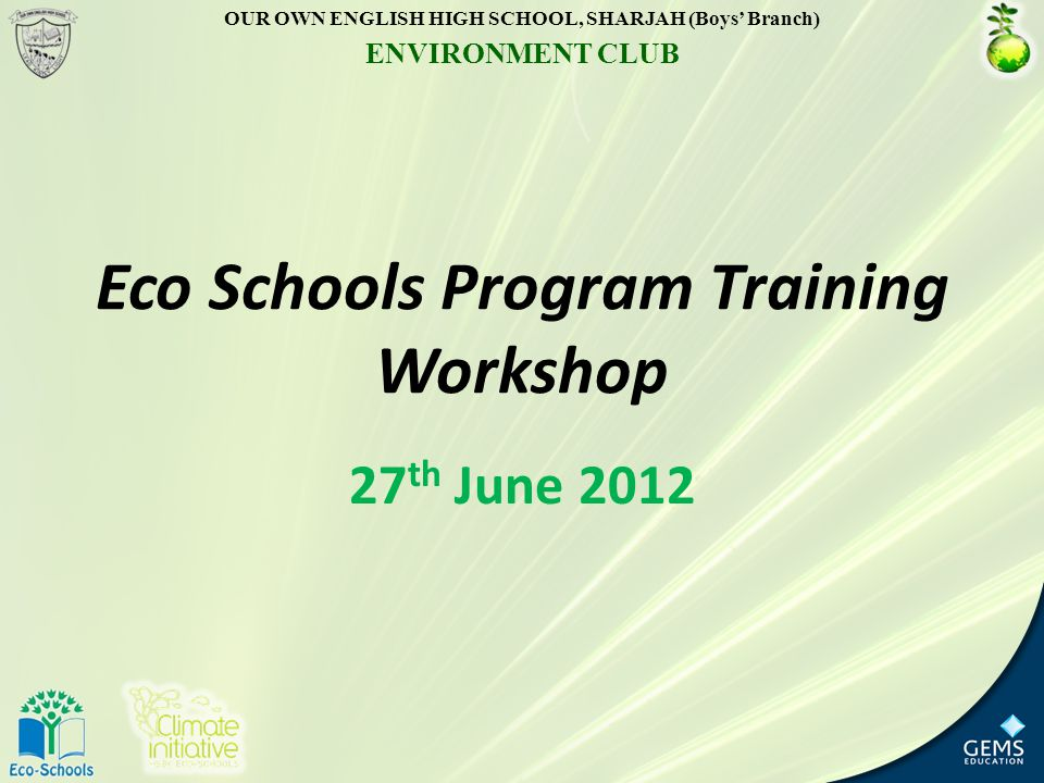 Eco Schools Program Training Workshop