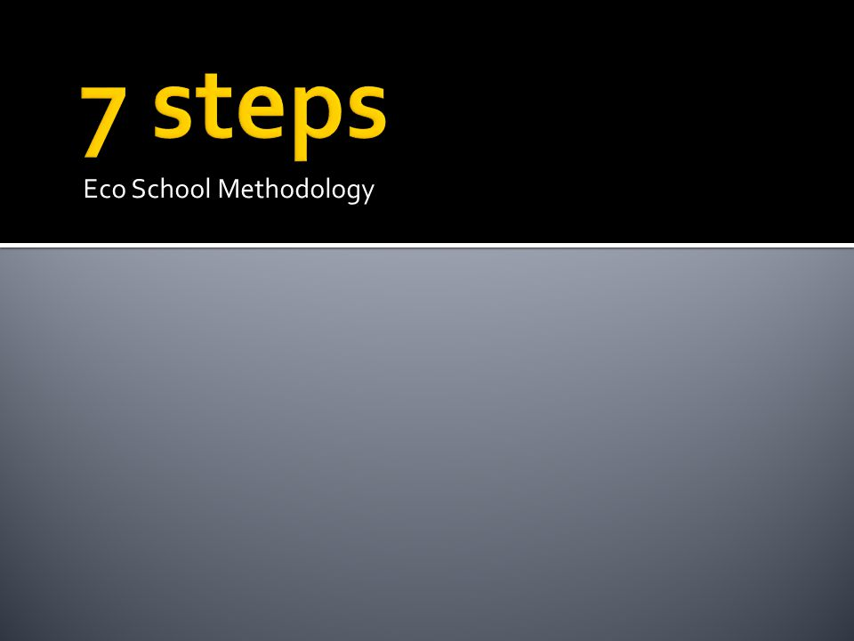 7 steps Eco School Methodology