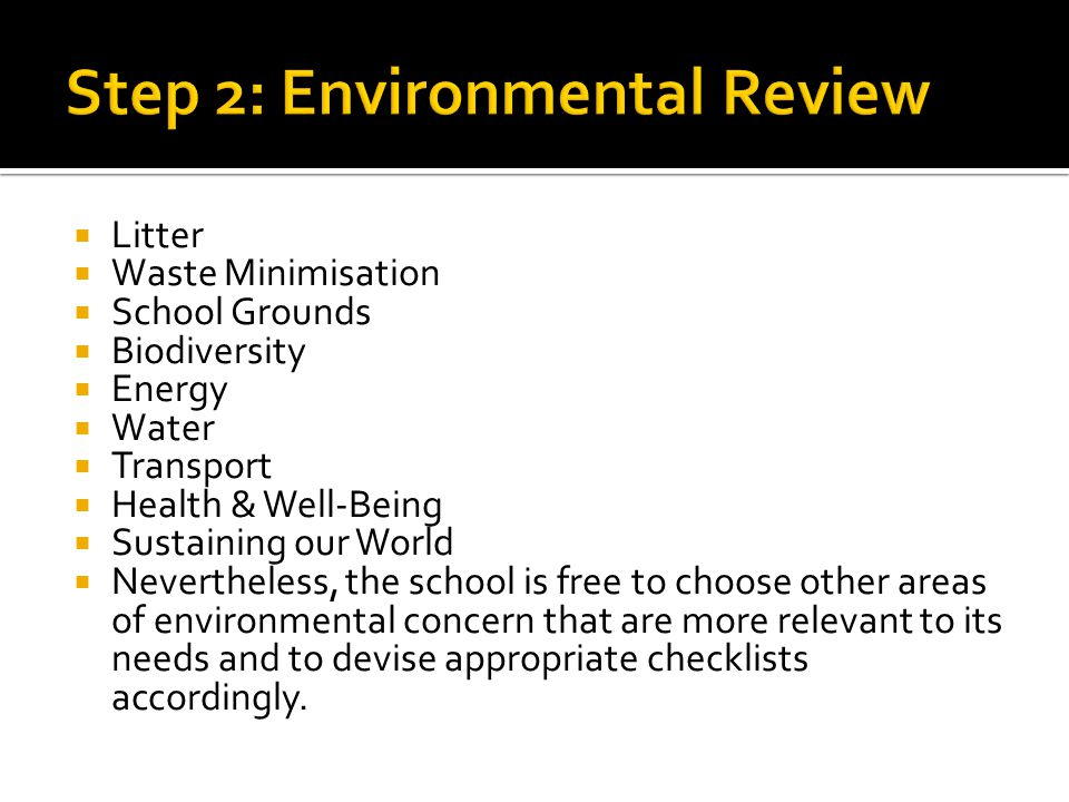 Step 2: Environmental Review