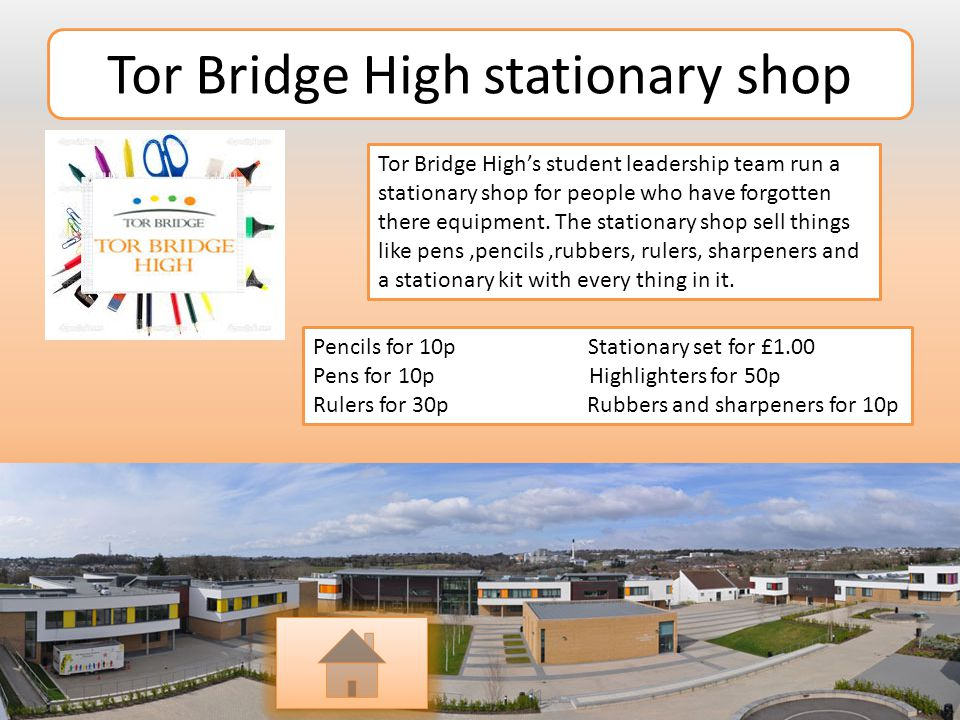 Tor Bridge High stationary shop