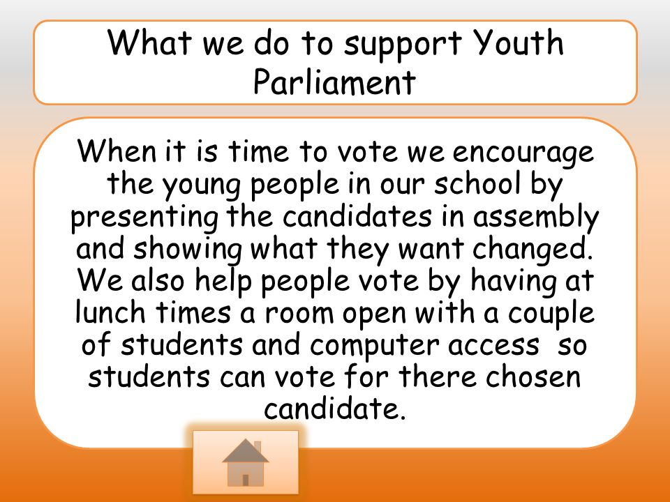 What we do to support Youth Parliament