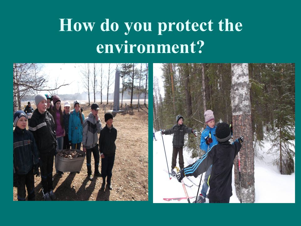 How do you protect the environment