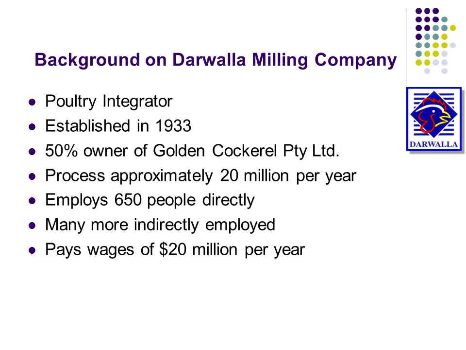 Background on Darwalla Milling Company