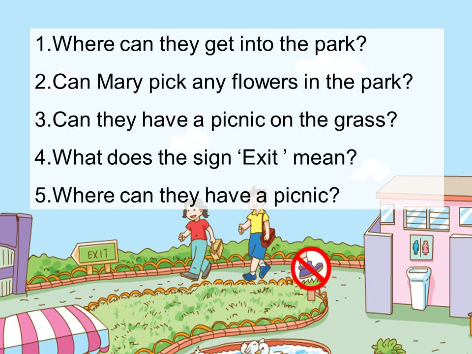 Where can they get into the park