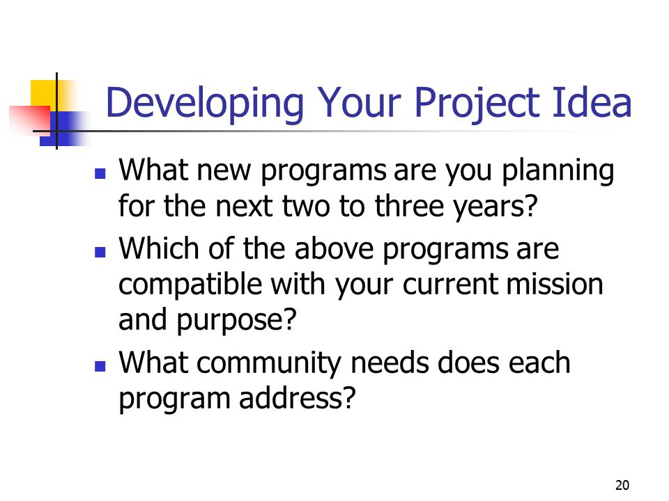 Developing Your Project Idea