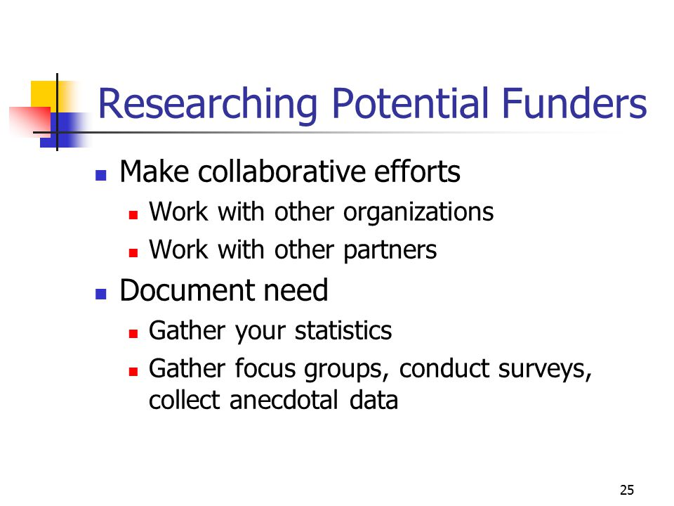 Researching Potential Funders