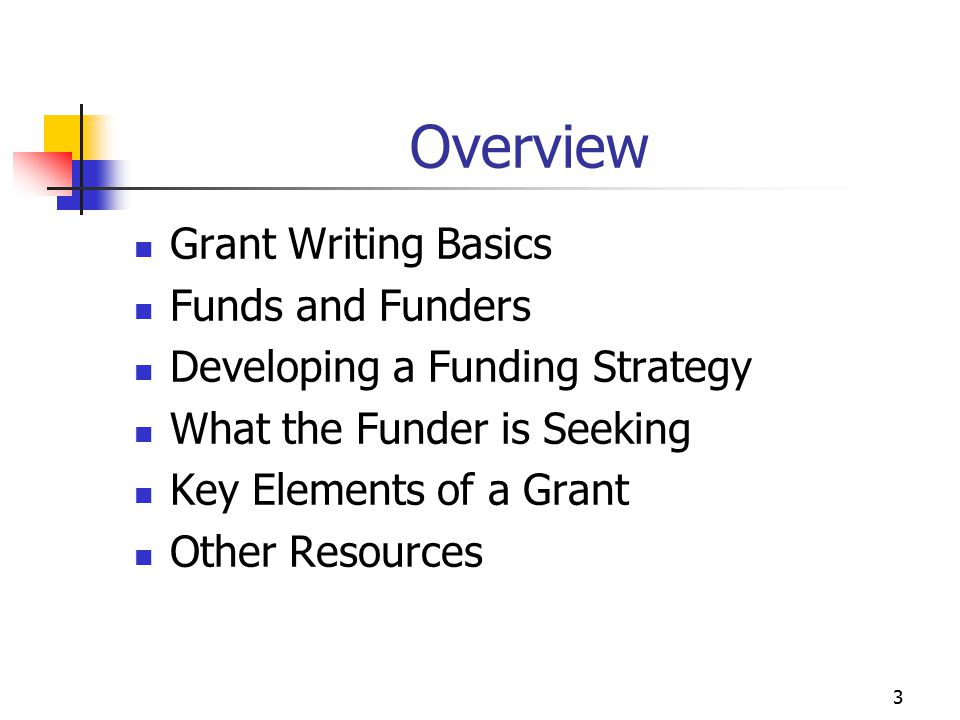 Grant Writing: Keys to Developing an Effective Proposal