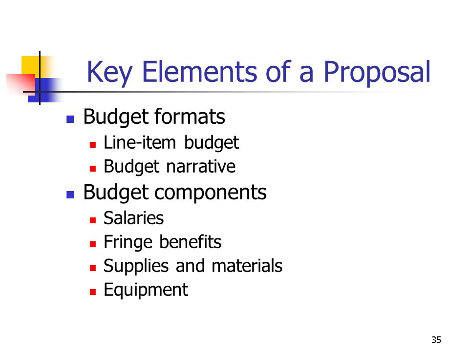 Key Elements of a Proposal