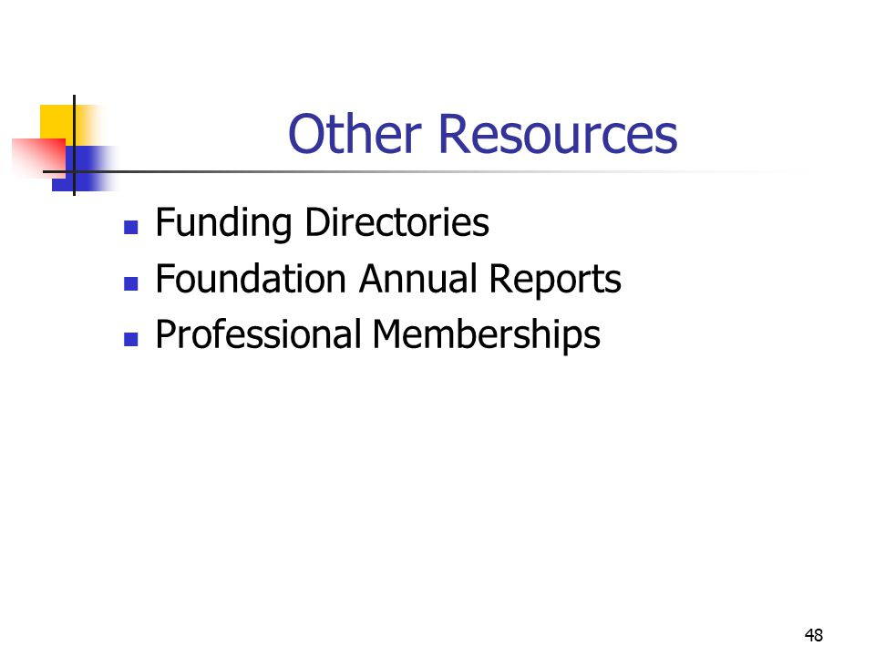 Other Resources Funding Directories Foundation Annual Reports