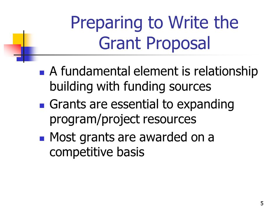 Preparing to Write the Grant Proposal
