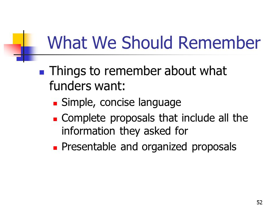 What We Should Remember