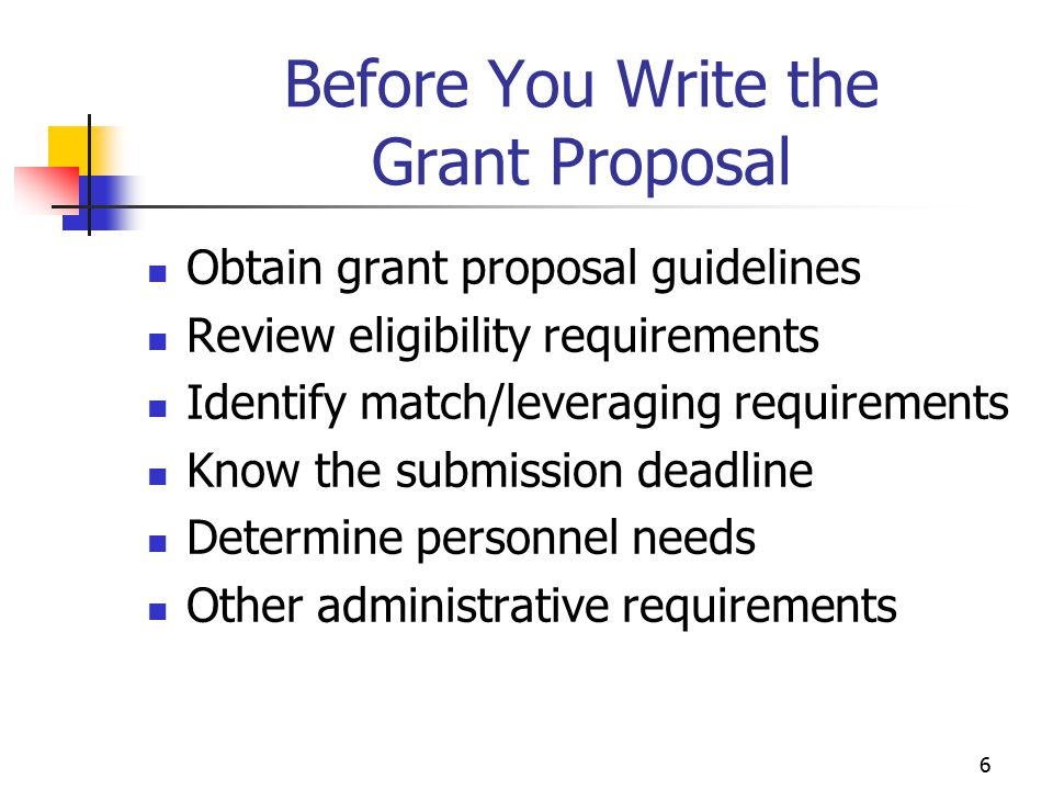 Before You Write the Grant Proposal