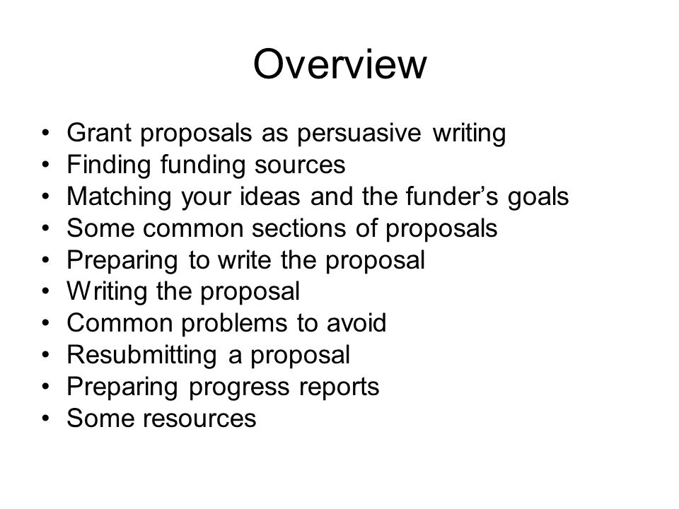 Preparing A Grant Proposal: Some Basics - Ppt Download