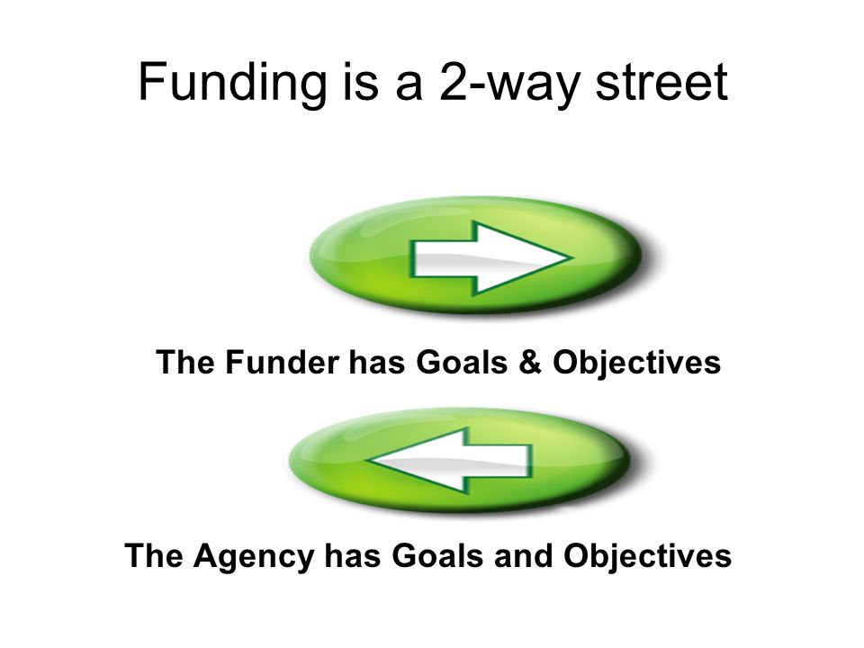 Funding is a 2-way street