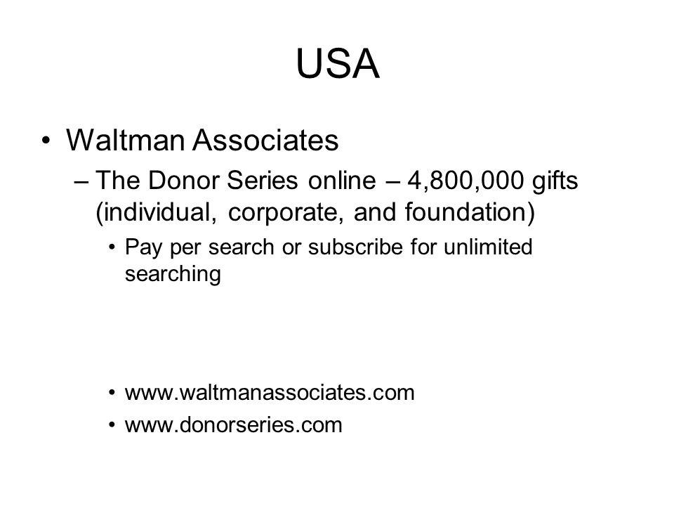 USA Waltman Associates