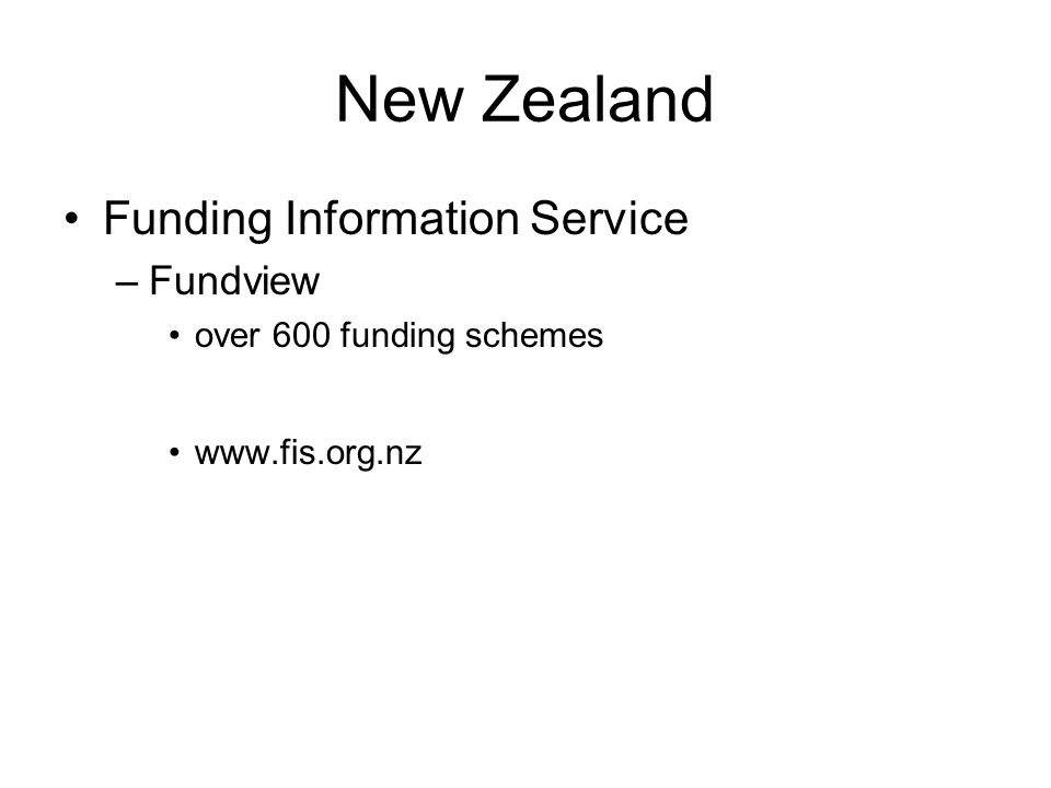 New Zealand Funding Information Service Fundview
