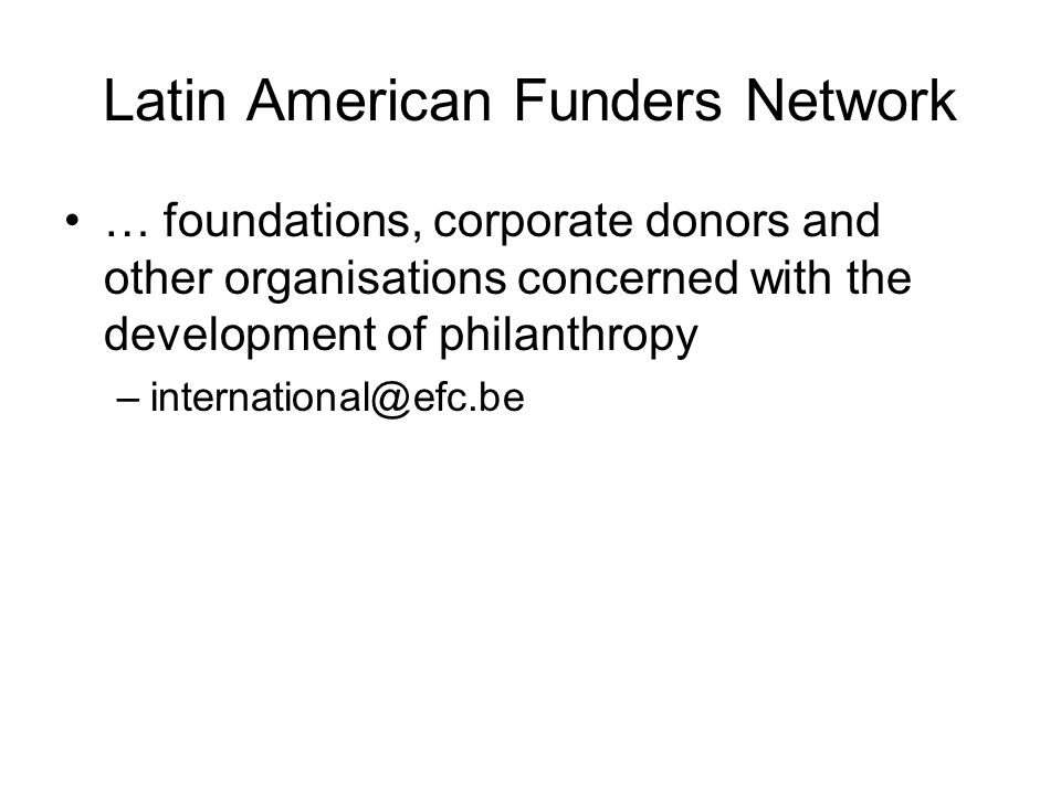 Latin American Funders Network