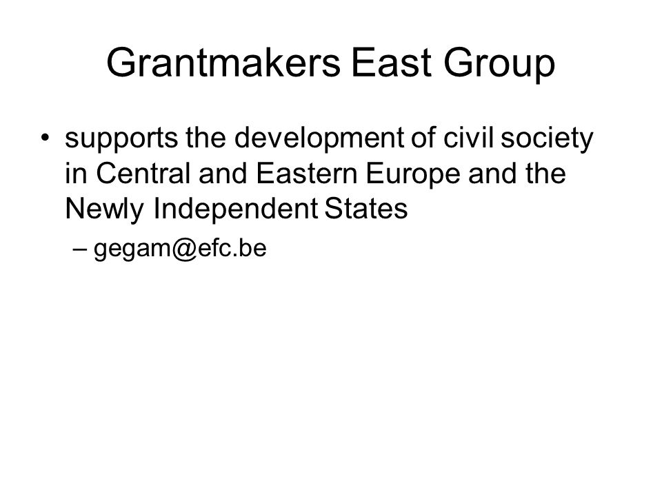 Grantmakers East Group