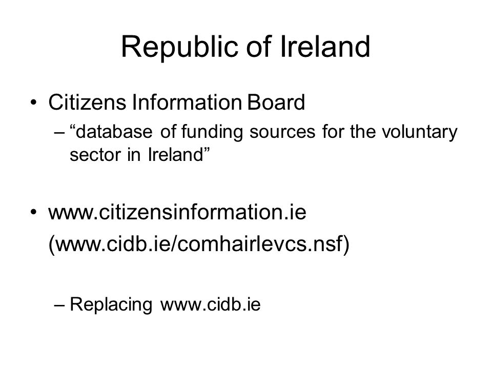 Republic of Ireland Citizens Information Board