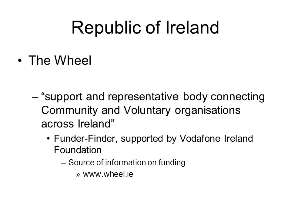 Republic of Ireland The Wheel