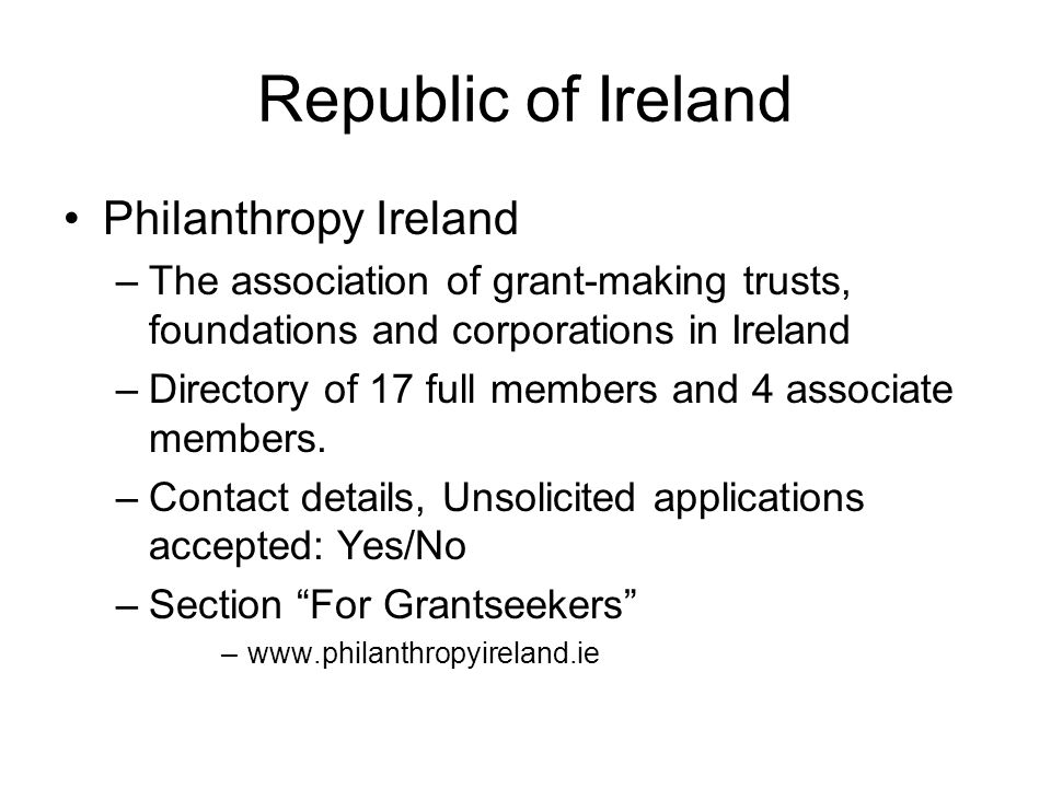 Republic of Ireland Philanthropy Ireland