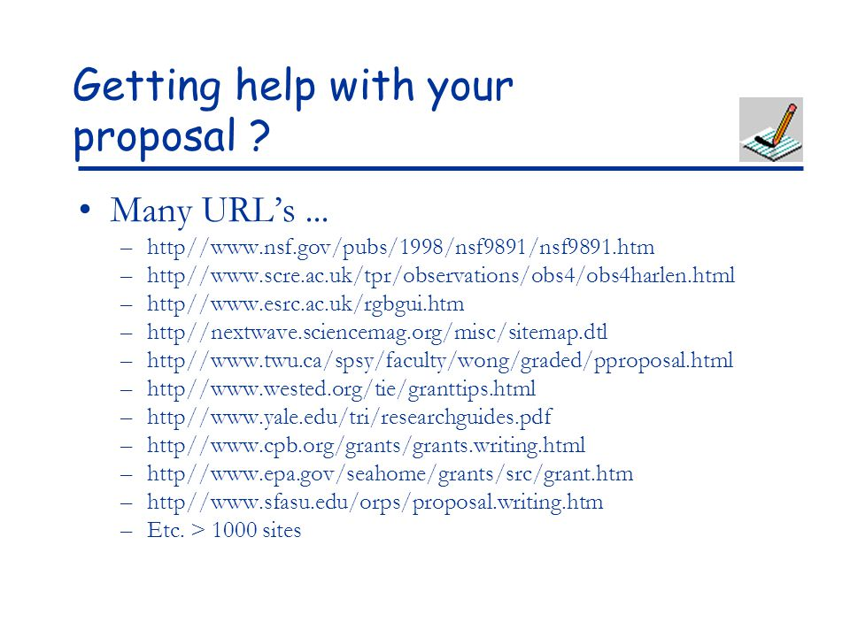 Getting help with your proposal