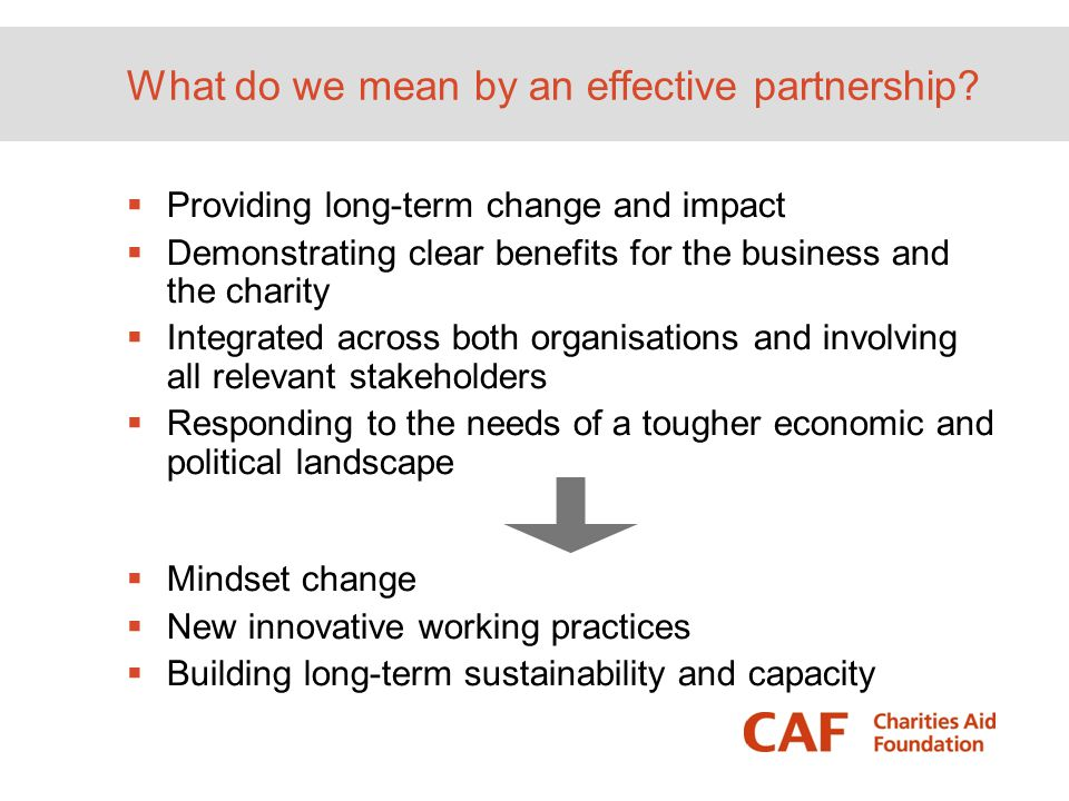 What do we mean by an effective partnership
