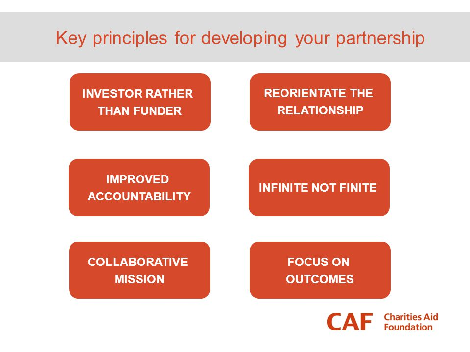 Key principles for developing your partnership