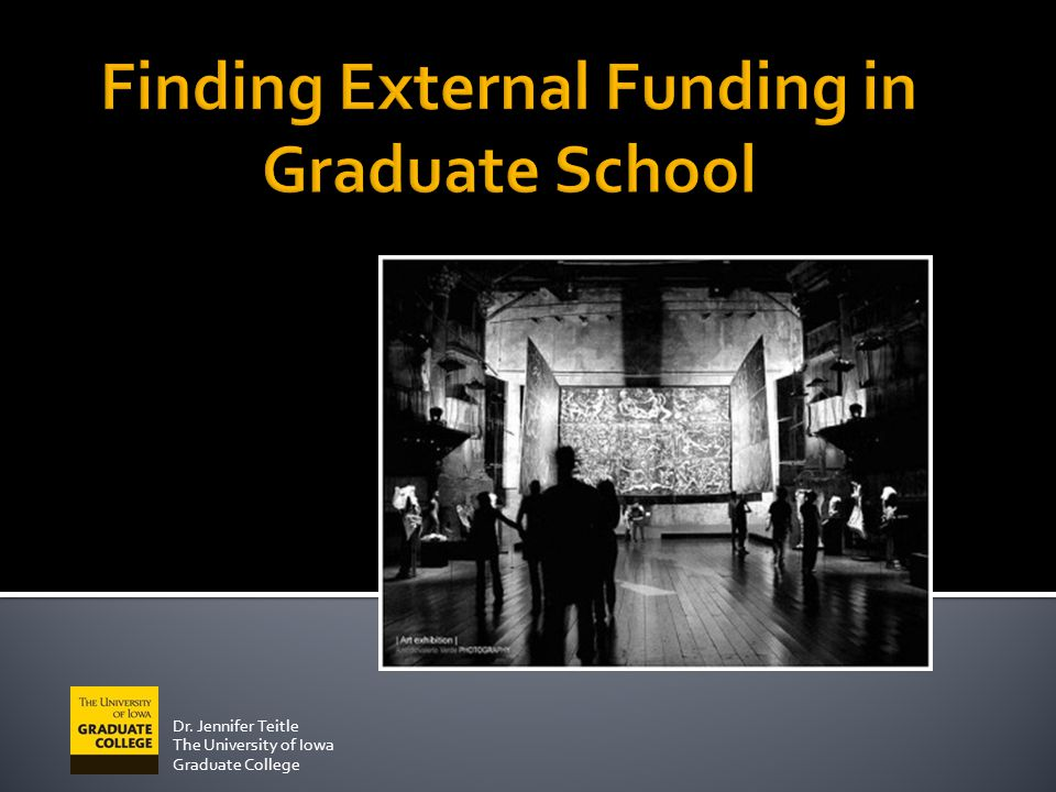 Finding External Funding in Graduate School