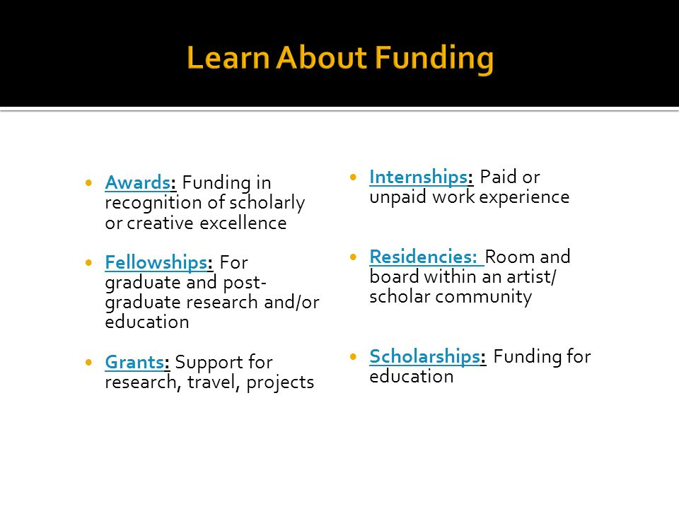 Learn About Funding Internships: Paid or unpaid work experience