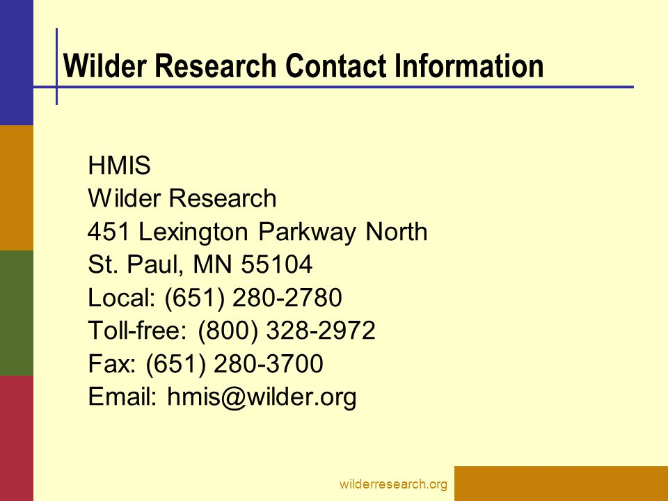 Wilder Research Contact Information